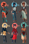 Adopts 43-48 [Auction- Closed] by sandflake-adoptables