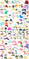 *~Updated*~ Hats - Accessory Sheet by SelenaEde