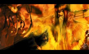 Enma Ai and the Inquisition by CrucifixJEL