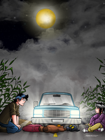 Lost on the road by Mallagueta-Pepper