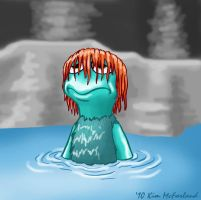 Boober doesn't like swimming by Negaduck9