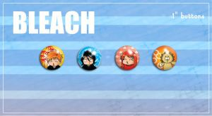 "Bleach 1"" Buttons by LittleMissSarah"
