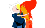 Adult Finn and Flame Princess by GothicSnowflake