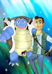 Jake Mazz-one and his blastoise by Ccjay25