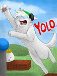 PewDiePie in Cat Mario by CascadingSerenity