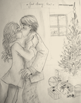 Christmas Ron+Hermione by Elwy