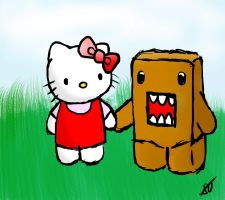 Domo and Kitty by SentryOrion
