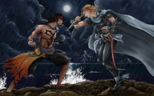 ROUND 2: Jecht vs. Firion by blazing-eyes