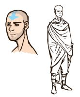 scruffy aang by QueenOfTheCute