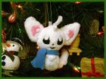 Minccino Snowmon Ornament by sorjei