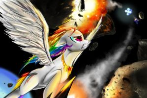Super Rainbow Dash vs Doomsday by DLowell