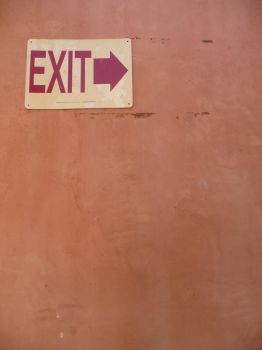 Stock: Wall Exit Sign I by frameofthoughts