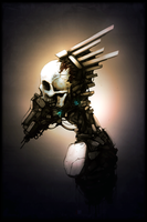 Speedpainting: Tech Skull by rickystinger88
