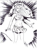 Supergirl: Sketch of the Day by mterry4