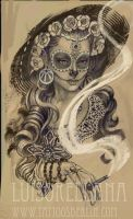 day of the dead girl tattoo by mojoncio
