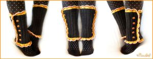 Candy Corn Leg Warmers by BaziKotek