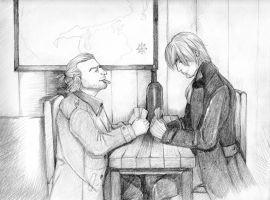 Card Players (Varric and Fenris) by ekocentric