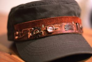 Steampunk hat V5, light edition (view 4) by yukosteel
