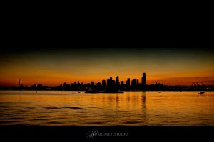 Dark Seattle Cityscape by UrbanRural-Photo