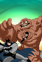 Batman and Robin: Clayface Cover by LucianoVecchio