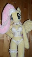 fluttershy anthro plushie sexy lingerie by FluttershyAP