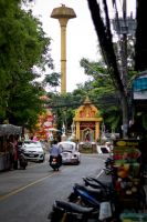 yellow tower: street Chiang Mai Thailand by druinfly