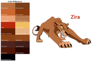 TLK Zira Color Reference by FeralHeartsFan