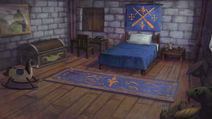 Medieval Kid Room by CavalierediSpade