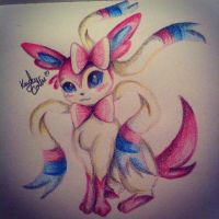 Sylveon love by Pixi2loves