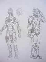 Advanced ArmorSuit and Field A by purplekero