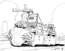 Post-Apocalyptic Car by feeesh