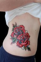traditional roses by tattooneos