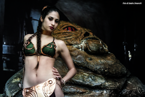 Leia And Jabba 39 by Darthsandr