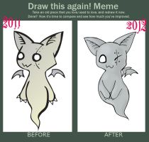 Draw This Again Meme - Zombat by Coffin-Rabbit