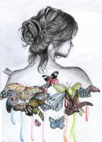 girl with butterflies by 7fredka7