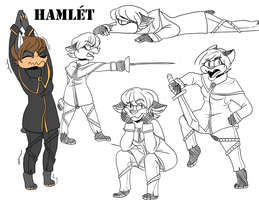 hamlet pose sheet by toasterlunchbox