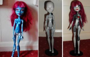 Ragdoll monster high repaint by AmyChoppies
