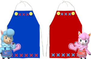 Animal Crossing Reese and Cyrus Costume Aprons by Enlightenup23