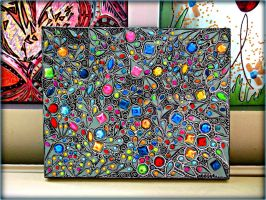 Gem Stone Abstract/Acylic 3D painting by AryiaCassandra