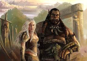 Durotan and Serah Commission by x-Celebril-x