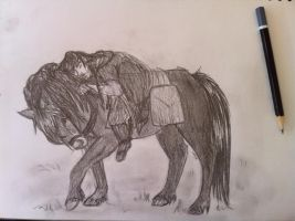 Kili and his pony by wolfgal04