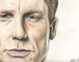 Daniel Craig in colored pencil by KCJoker33