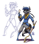 Daily Draw 2014 - Day 1 :: Sly Cooper by stinawo