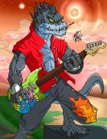 Prehistoric Guitarist by AntManTheMagnif