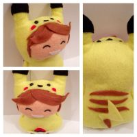 Pikachu cosplay - personalised plushie by SayakaSae