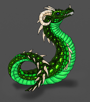 Verden-Rattle-Scale Wyrm by Scatha-the-Worm