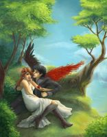 .Kamineko - Under the Trees. by Lii-chan