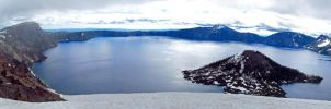 Crater Lake Panorama 1 by jldyr