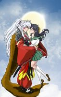Comm-Inureader InuxKagome by roryalice