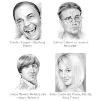 Big Bang Theory cast by gregchapin